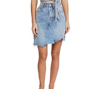 Free People high waisted denim skirt size 24